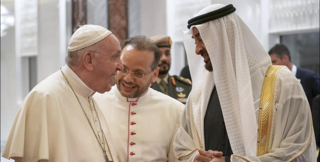 Папа с руководством ОАЭ. Фото: Аль-Джазира