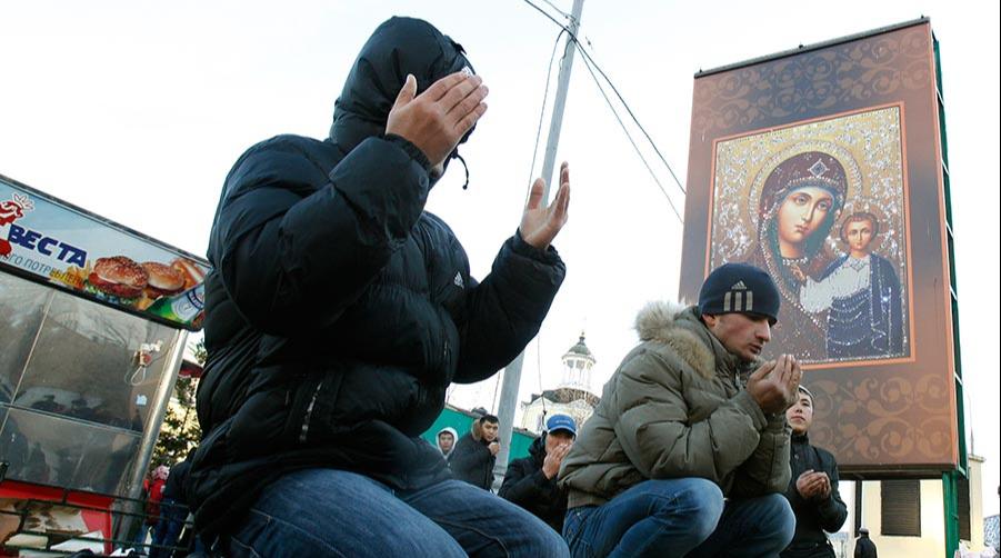 Намаз в Москве. Фото: Рейтер