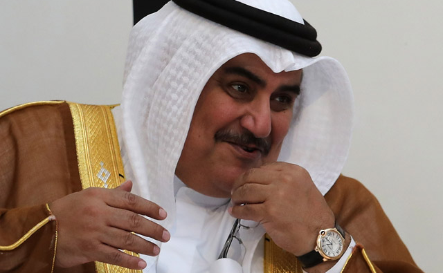 Министр иностранных дел Бахрейна шейх Халид Бин Ахмад аль-Халифа