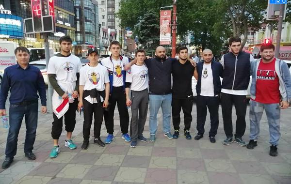 Кавказские борцы помогли с ифтаром (ВИДЕО)