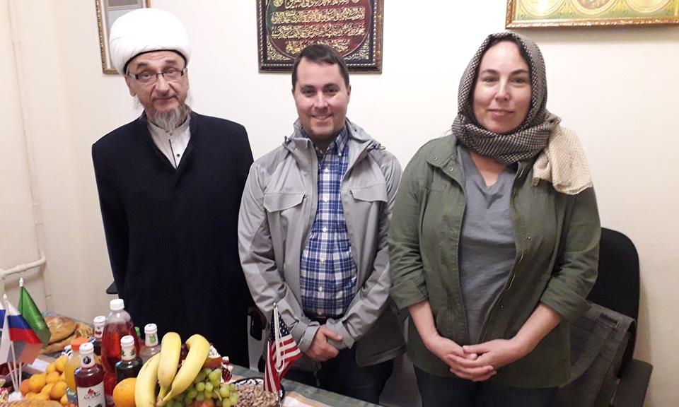 Муфтий Абдуль-Куддусс Ашарин с гостями из США