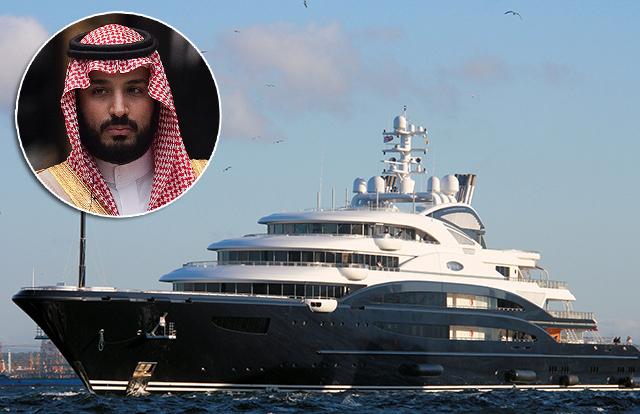 Принц Мухаммед бен Салман и его яхта Serene