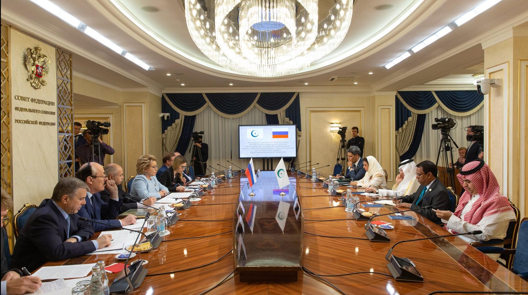 Встреча В. Матвиенко с главой ОИС