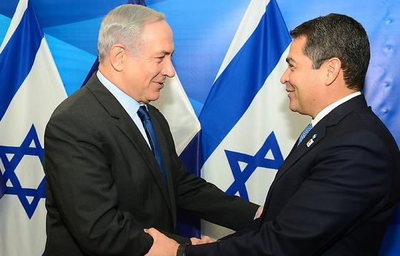 Премьер Израиля Биньямин Нетаньяху и президент Гондураса Хуан Орландо Эрнандес