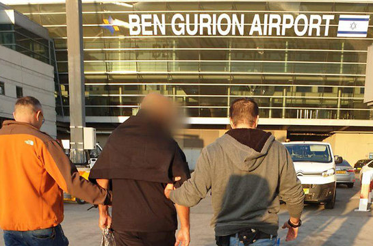 Задержание мужчины в аэропорту Тель-Авива