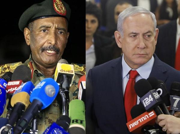 Абдель Фаттах аль-Бурхан и Биньямин Нетаньяху