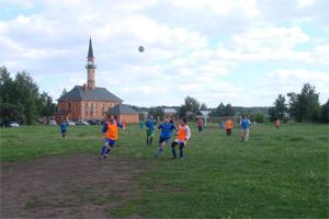 Мусульмане играют в футбол