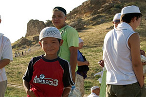 Жители казахского села отметили столетний юбилей мечети