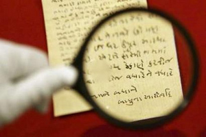 Рукопись Ганди возвращается в Индию