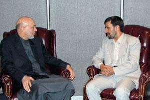 Встреча Х. Карзаи и М. Ахмадинежада.