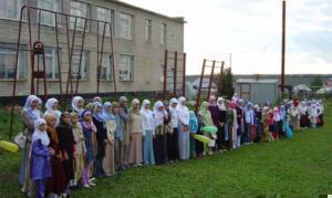 Участницы лагеря в Белозерье