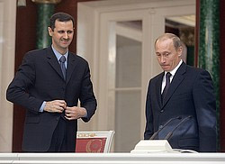 Президенты Асад и Путин