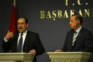 Нури аль-Малики и Тайип Эрдоган во время пресс-конференции