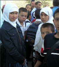 школьники Киргизии