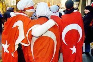 Турчанки на митинге в защиту хиджаба