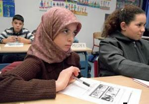 Учащиеся одной из школ Кёльна.