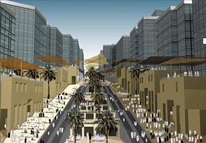 План застройки коммерческого квартала в Мекке.