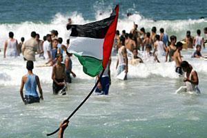 Пляж в секторе Газа.