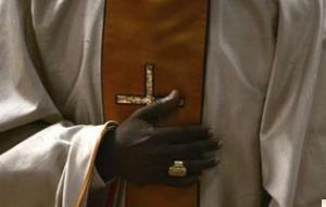 Сенегальский кардинал Теодор-Адриен Сар в Ватикане (25 ноября 2007 г.).