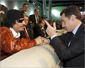 Встреча Каддафи и Саркози