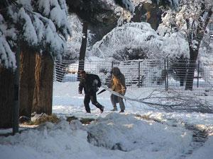 Зима 2008 в Кабуле.