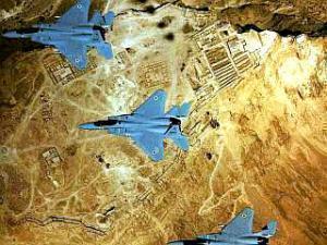 ВВС Израиля над центральным районом сектора Газа