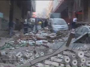 Здание разрушенного делового центра в Стамбуле (фото с сайта hurriyet.com.tr)
