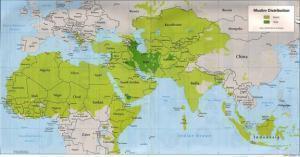 Районы проживания мусульман
