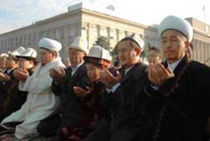 Протесты мусульман в Киргизии