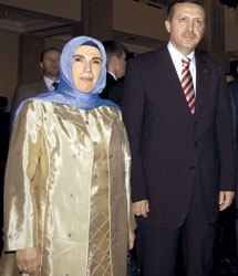 Премьер Турции с супругой
