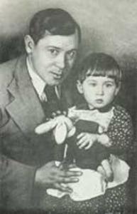 Муса Джалиль с дочерью Чулпан