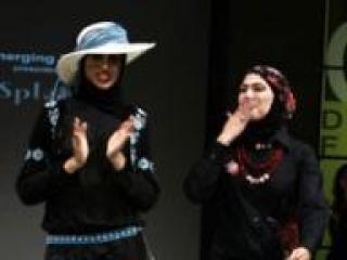 Рабия Заргарпур (Rabia Z) представляет новую коллекцию на Неделе моды в Абу-Даби