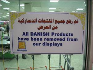 Мусульманские страны начали бойкотировать датские товары