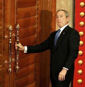 В «День дурака» Буш посетил с государственным визитом Украину