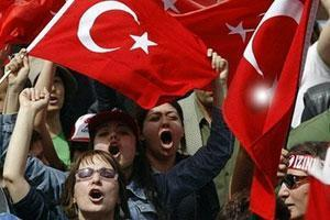 Участники антиправительственной демонстрации в Анкаре
