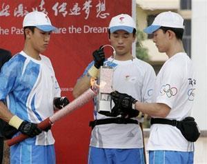 Олимпийский огонь прибыл в Малайзию