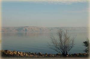 Вид на Галилейское море и Голанские высоты
