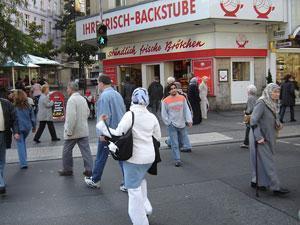 Мусульмане на улице Берлина