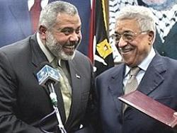 Исмаил Хания и глава ПНА Махмуд Аббас