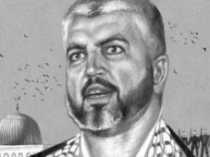 Халед Машааль. Рисунок Геннадия Животова