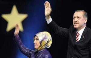 Р. Эрдоган с супругой