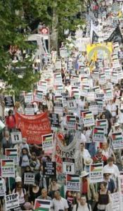 Крупнейшая антиизраильская демонстрация в Лондоне