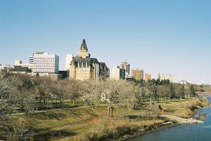 Центральная часть города Саскатун канадской провинции Саскачеван