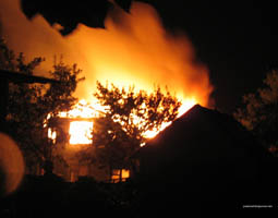 Сильный пожар на востоке столицы