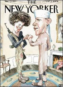 """В США разгорелся новый """"карикатурный скандал"""" с участием Барака Обамы"""