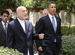 Обама пообещал Карзаю продолжить войну