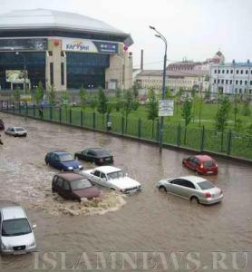 Сильнейший ливень парализовал Казань