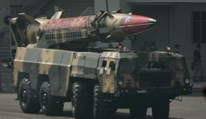 Пакистанская ракета Шахин 2, которая может нести на себе ядерную боеголовку