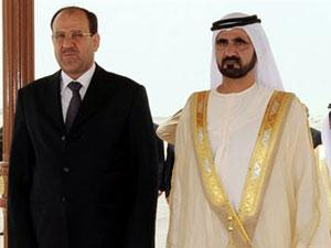 Премьер-министр Ирака Нури Аль-Малики и премьер ОАЭ шейх Мактум