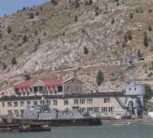 Сегодня утром российские войска заняли базу грузинских ВМС в Поти